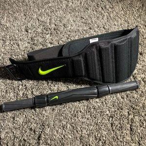 Nike weight lifting belt sz L muscle roller NWOT